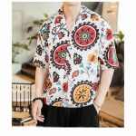 Sinicism Store Chinese Style Vintage Tshirts Men 2020 Summer Casual V Neck Mens T shirt Oversize 1
