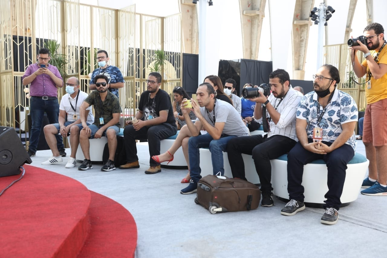 خالد الصاوى فى مهرجان الجونة السينمائي