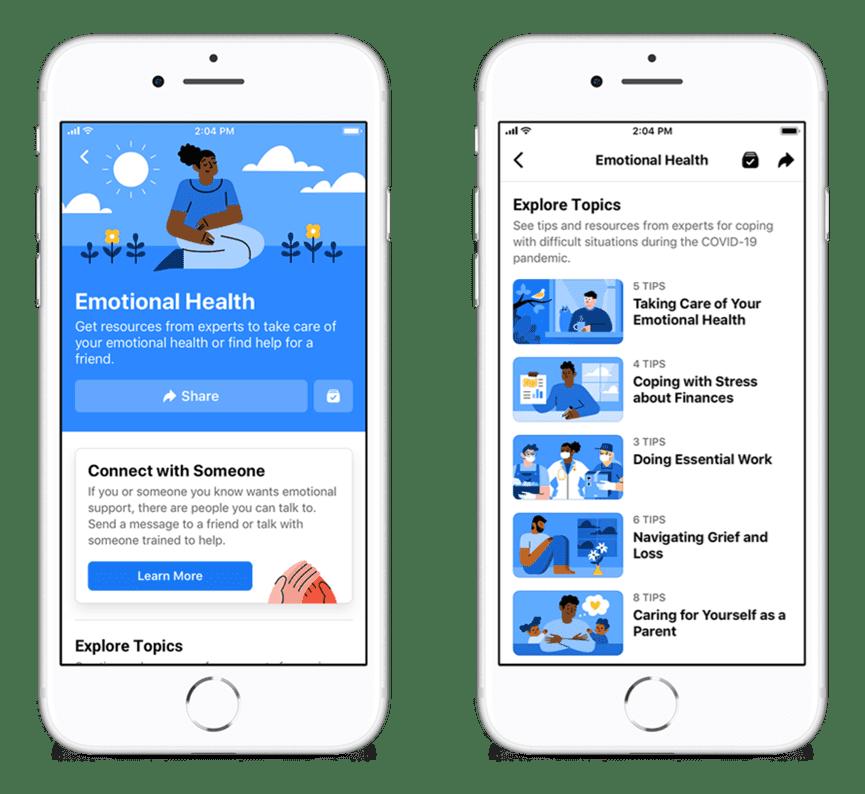 تعمل فيسبوك إلى ضمان إيصال الناس حول العالم لموارد الصحة النفسية