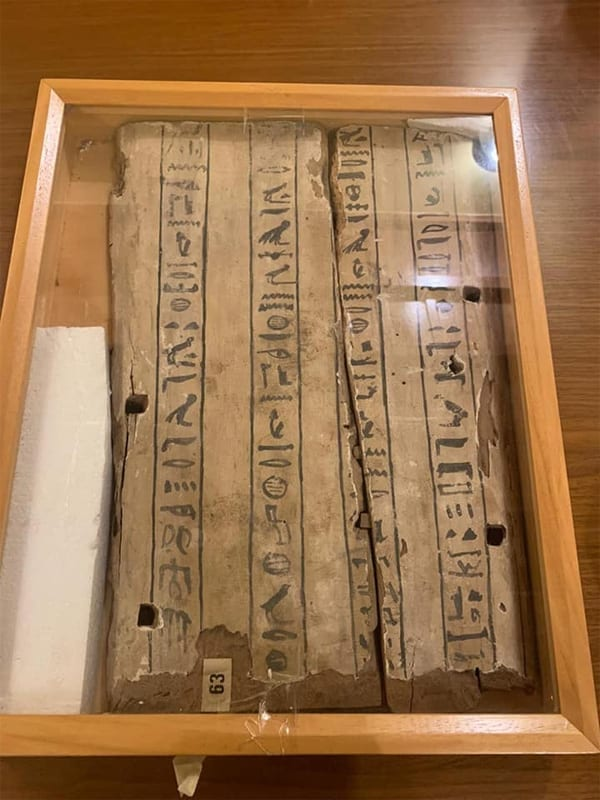 Egypt Obtains part of a Sarcophagus that was Stolen from Italy