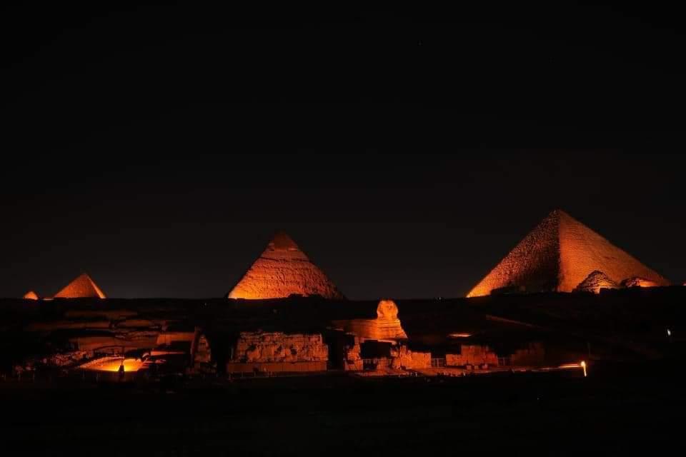 The Pyramids Light up in Orange For Activism against Gender-based Violence