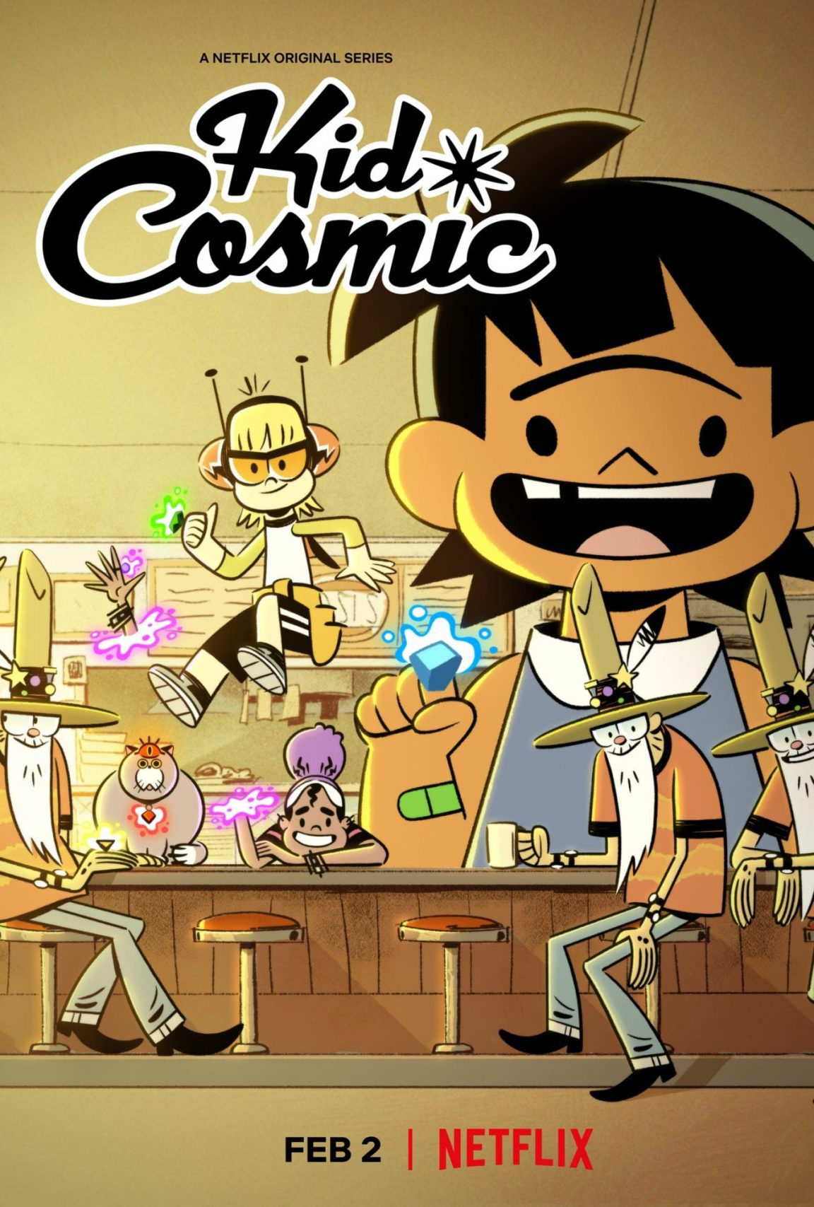 "Netflix Releases The Trailer And Key Art For Kids 2d Animation Series ""Kid Cosmic"""