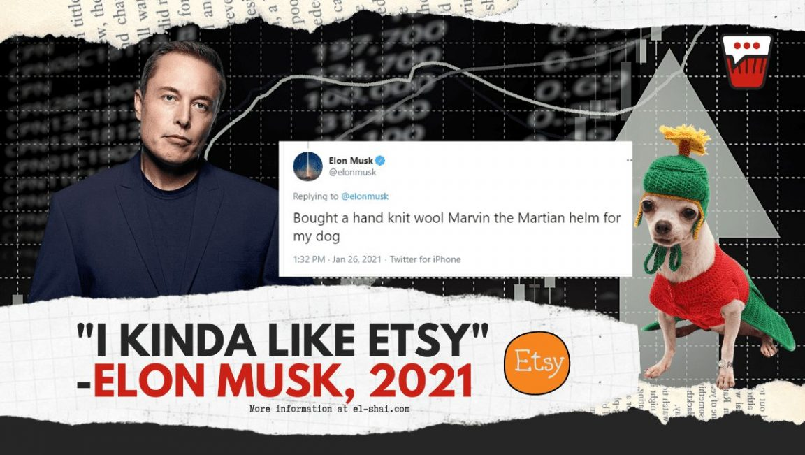How Elon Musk's mediocre tweets about Etsy and Signal Changed the whole StockMarket!