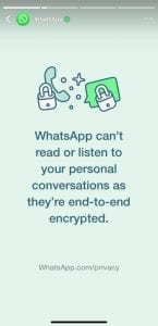 A Message from WhatsApp to All Egyptian Users about their Privacy Policy Updates