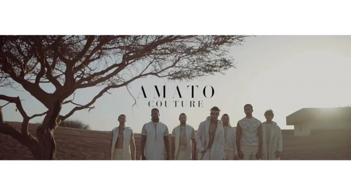 Amato Couture Opens Arab Fashion Week with his first full Men's Collection