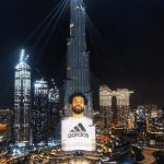Mohamed Salah Takes Over Burj Khalifa For The Launch Of The New Adidas Flagship Store in Dubai!