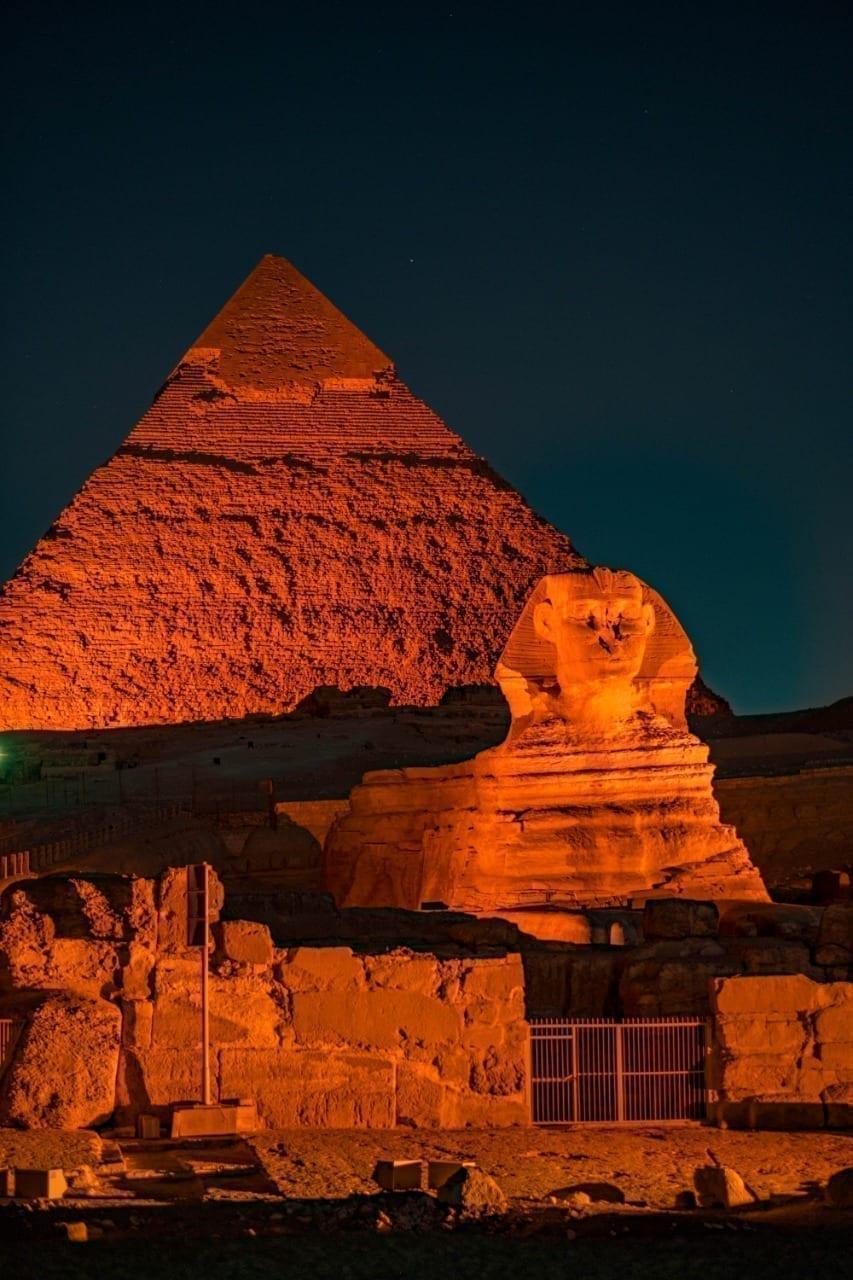 Pyramids lit  for World NTD Day