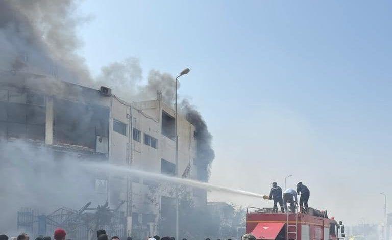 Breaking: Massive fire breaks in Obour, Egypt