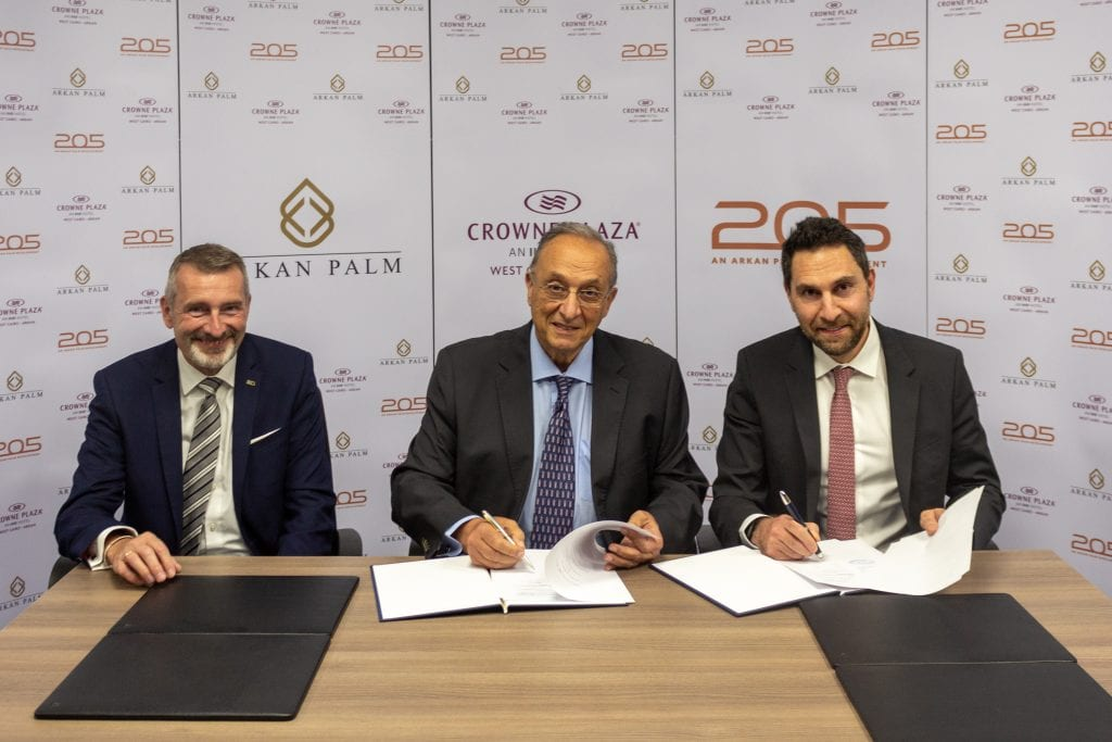 Arkan Palm and Crowne Plaza Hotel Partner to Serve 205 Community