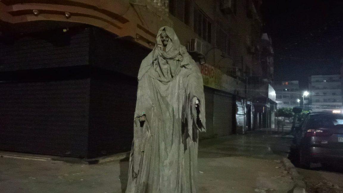 A Grime Reaper Statue in Ismalia, Egypt Causes Uproar