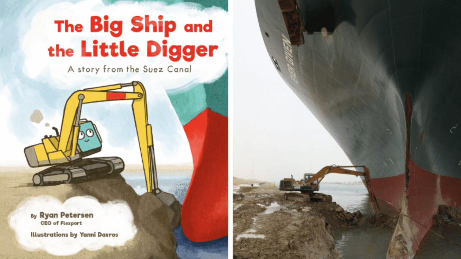 The big ship and the little digger
