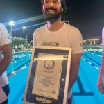 Actor Ahmed Hatem Breaks a Guinness World Record in Swimming