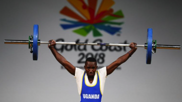 Julius Ssekitoleko competing at the 2018 Commonwealth Games.