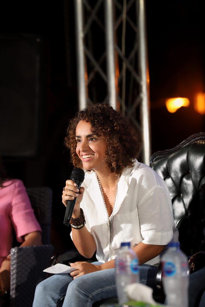 علا رشدي تشارك بـوجهة مظر في فعالية مدرسة الدلتا الأميركية بالمنصورة