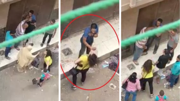 Video: A Woman in Egypt Stands Up Against her Harasser, and Another Woman Throws Water on Her